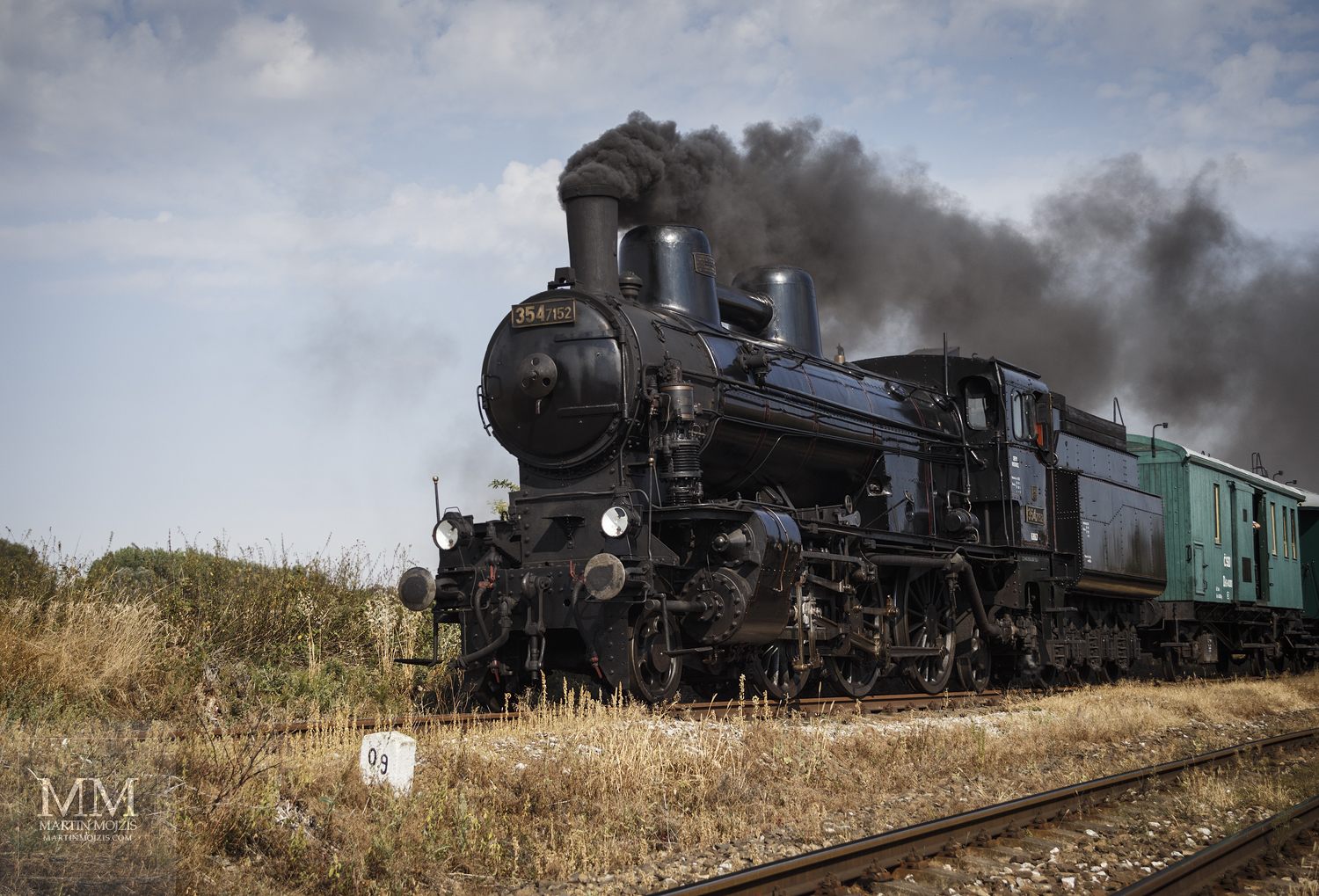 Large format, fine art photograph of steam locomotive. Martin Mojzis.