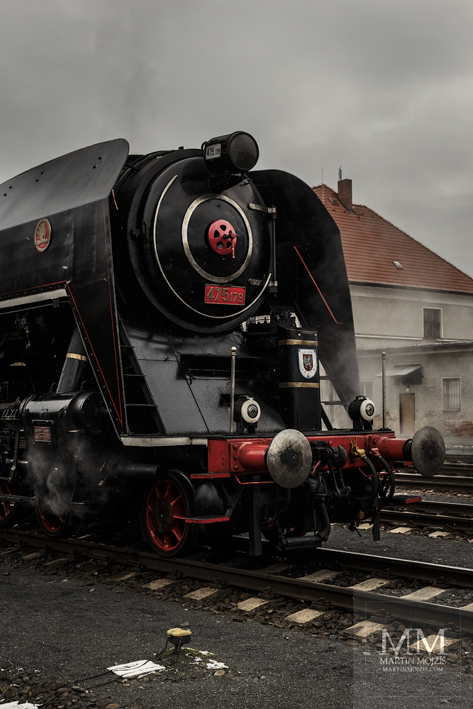 Large format, fine art photograph of steam locomotive 475.179 Noblewoman. Martin Mojzis.