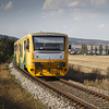 Large format, fine art photograph of yellow engine train. Martin Mojzis.