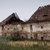 Large format, fine art photograph of old house with damaged roof. Martin Mojzis.