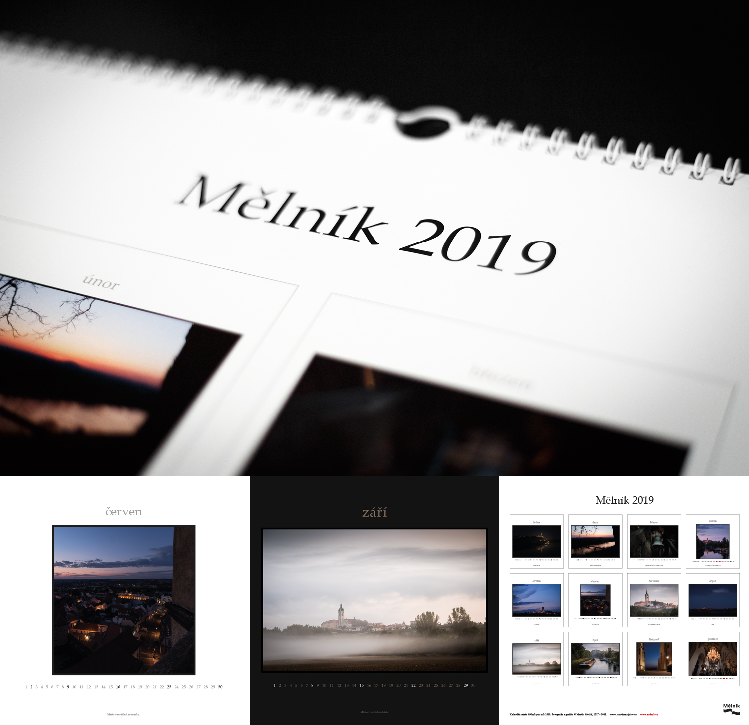 Auctorial calendar of Melnik City for 2019 year. Photography and graphic art © Martin Mojzis.
