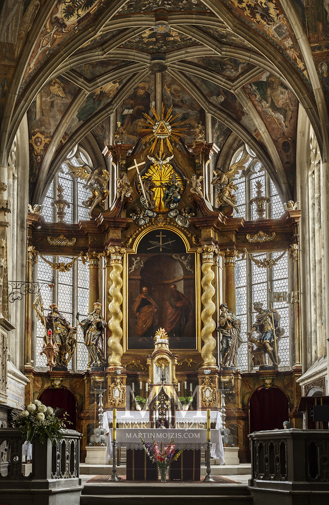 Church of st. Peter and Paul in Melnik. The main altar. Professional photography of architecture - interiors.