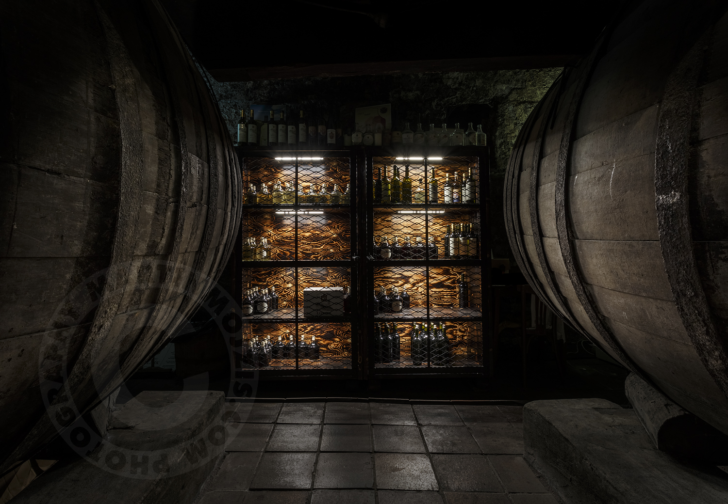 Chateau Melnik – wine cellars. Professional photography of architecture - interiors.