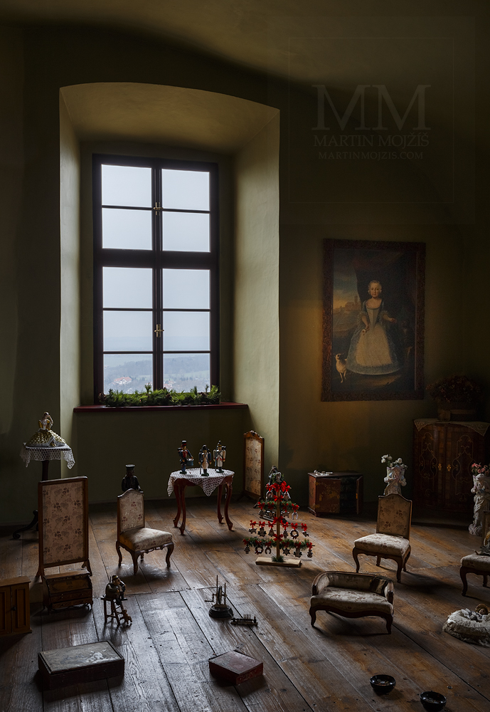 Chateau Melnik – kids room. Professional photography of architecture - interiors.