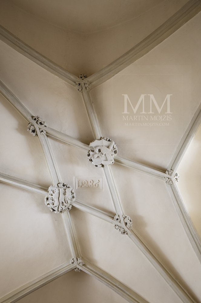 Church of st. Peter and Paul in Melnik. Chapel ceiling. Professional photography of architecture - interiors.