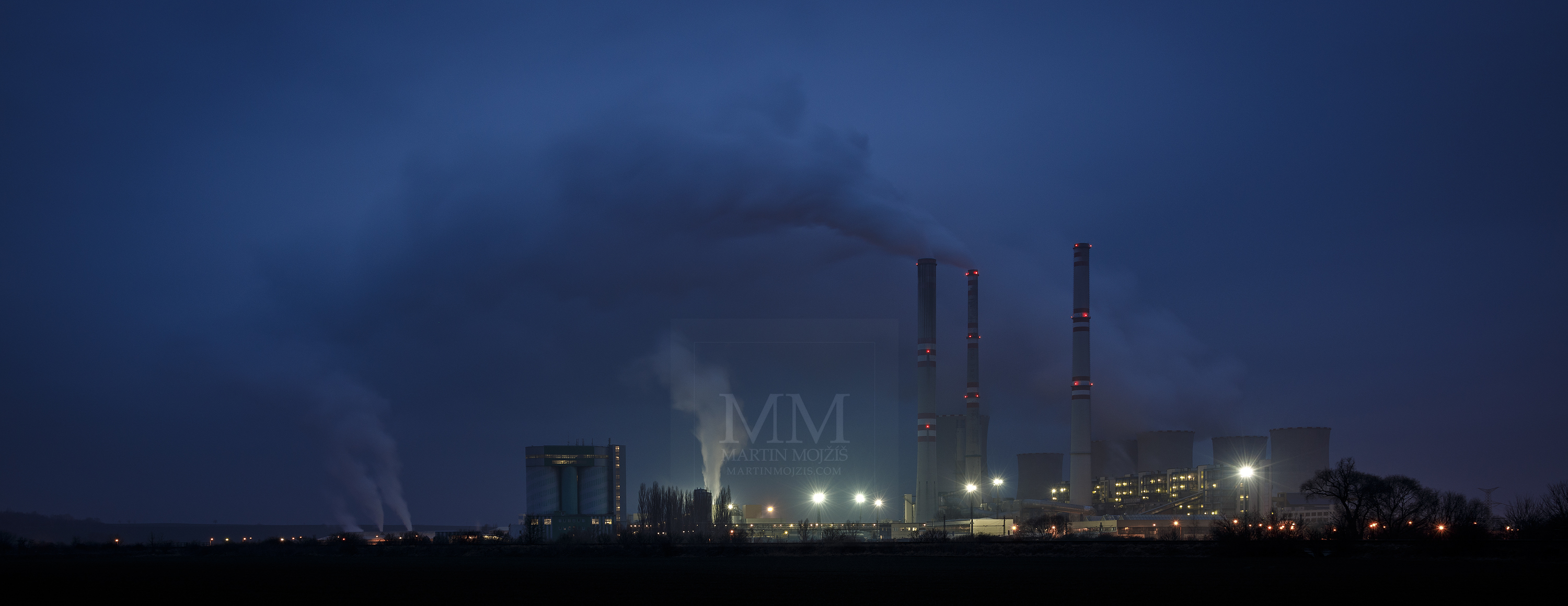Thermal electric power plant Pocerady, Czech Republic. Professional photography of industrial and energetics.